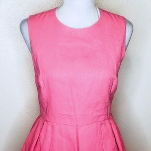GAP Dresses - Coral pink linen Gap fit and flare dress